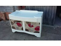 Vintage Painted Shabby Chic Chest of Drawers