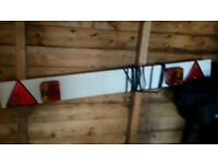 Brand new trailer board with lights and lead