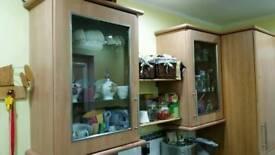 2 kitchen glass wall units