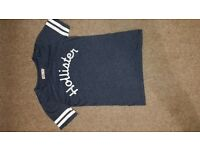 Navy Blue Girls Hollister T Shirt XS