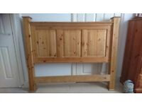"""4ft 6"""" double solid pine floor standing headboard"""