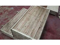 🌟 Heavy Duty Waneylap Wood/Timber Fence Panels 8mm Boards