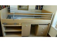 Dreams - Hampshire Cabin Sleeper, Single Bed with storage underneath
