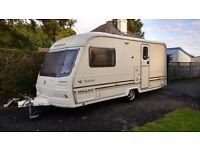 2002 Avondale Avocet 2 berth caravan with end bathroom and motor mover
