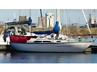VARNE 27FT SAILING CRUISER WITH 13HP Volvo well equipped £7250