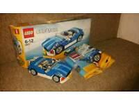 LEGO CREATOR 6913 BLUE CAR - 100% COMPLETE