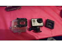 GoPro Hero3 Black Edition + 4 FREE Batteries + Extra Accessories