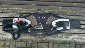 Scrub waist harness for use with kite boarding