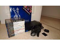 Playstation 2, Dance Mat, 13 Games, & Accessories