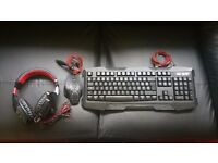 Gaming Keyboard + Mouse + Headset
