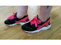 Nike huarache customised size 4 ladies