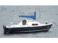 Boat + Outboard - Yacht Pandora 22 Mk1, 4 Berth with Yamaha outboard.
