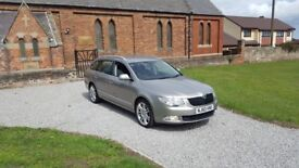 60 REG SKODA SUPERB 2.0 TDI 140 DSG ESTATE ELEGANCE SAT-NAV LEATHER MOT-18 FSH 2-KEYS FREE-DELIVERY