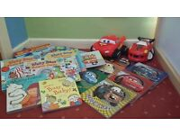 Fantastic Children's Book Collections, bizzy bear, lightning mcqueen + soft toy and moneybox!!!