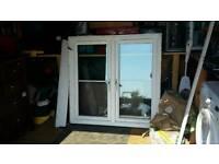 Window white PVC 2 door 1200mm