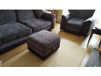 Immaculate 3- piece suite (4 seater sofa, 2 armchairs and stool with storage) Castledawson area