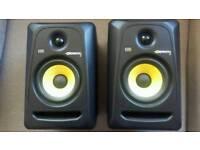 Rokit 5's powered studio monitors