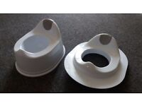 Kids Baby Potty & Toilet Training Seat Set NEW. Sturdy White Plastic. Bought but no longer required.
