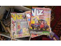 Box of viz comics/books/cds
