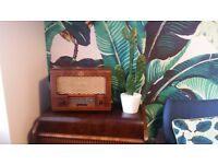 1960s Mid Century Modern Vintage radio converted to MP3 player