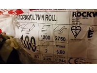 rockwool twin roll 100mm x 1200mm (Combi Cut) x 2.75m (brand new unopened) rrp 40£