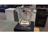 BEAUTIFUL CUT GLASS CRYSTAL ICE BUCKET IN ORIGINAL BOX