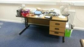15 x straight office desks with fitted draws on a January sale just £25 each!!