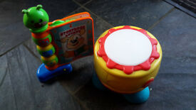 Musical toys bundle - storybook & drum - both with lights & sounds