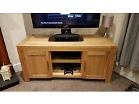Oak TV stand cabinet