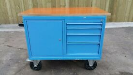Kraft-Mobile-Steel-Mechanic-Workbench-Toolbox-Heavy-Solid-Made-in-Germany