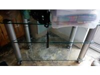 TV stand, strong glass