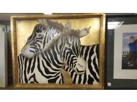 Funky 3D Zebra Painting