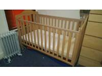 SOLID WOOD BABY COT in an excellent condition
