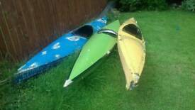 3 x plywood kayaks