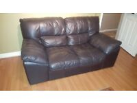 Dark brown, quality (thick real leather) suite
