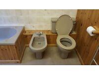 Avocado bathroom suite - used but in good condition.