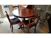 Solid quality wood table with 6 chairs