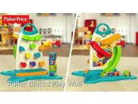 Fisher Price Electronic Baby Toy - Roller Blocks Play Wall 6-36 months