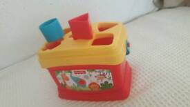 Fisher Price Baby-toddler shape sorter box