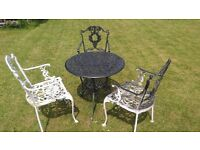 Old iron table and chairs