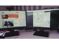 2 x24 inch monitors. Hardly used bought recently - £200 - Strictly no offers