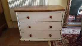 Small, sturdy chest of drawers