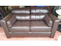 MATCHING LEATHER THREE AND TWO SEATER SOFAS FOR SALE