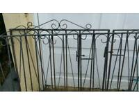 Wrought iron gates large doubles