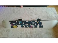 Burton snowboard and boots and bindings
