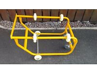 Barrell stand with wheels & rollers takes 45- 210 ltr £30