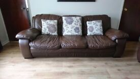 2+3 seater leather sofas