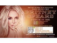 X2 Britney Spears - Piece of Me tickets - London o2 Arena - 24th August - BLOCK A1 - FRONT BLOCK