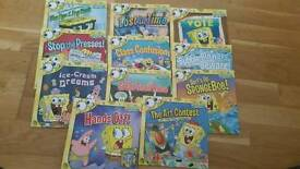 11 x sponagebob square pant books
