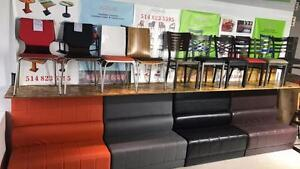 Chaises / Tables / Bases de Tables / Banquettes / Tabouret De Restaurant / Cafe / Bar / Bistro    Tel:(438)990-2355